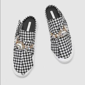 Zara bejeweled mule sneakers